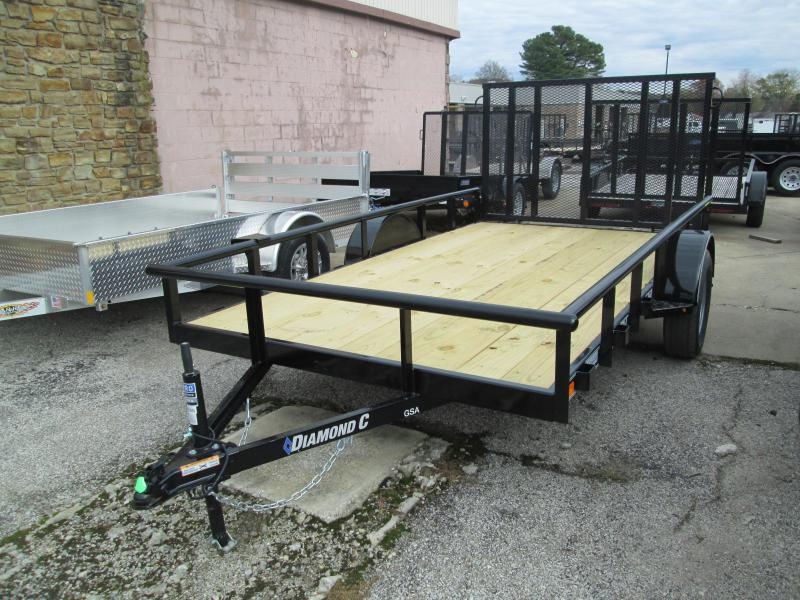 2020 12x77 Diamond C Utility Trailer. 21033