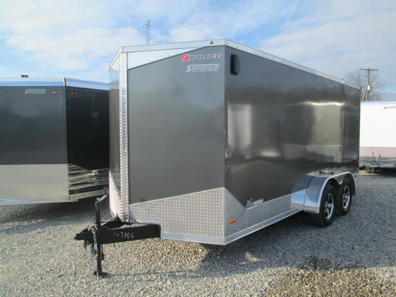 2020 7'x16' 7k RC Flat Top Wedge Trailer with ramp door. 57166