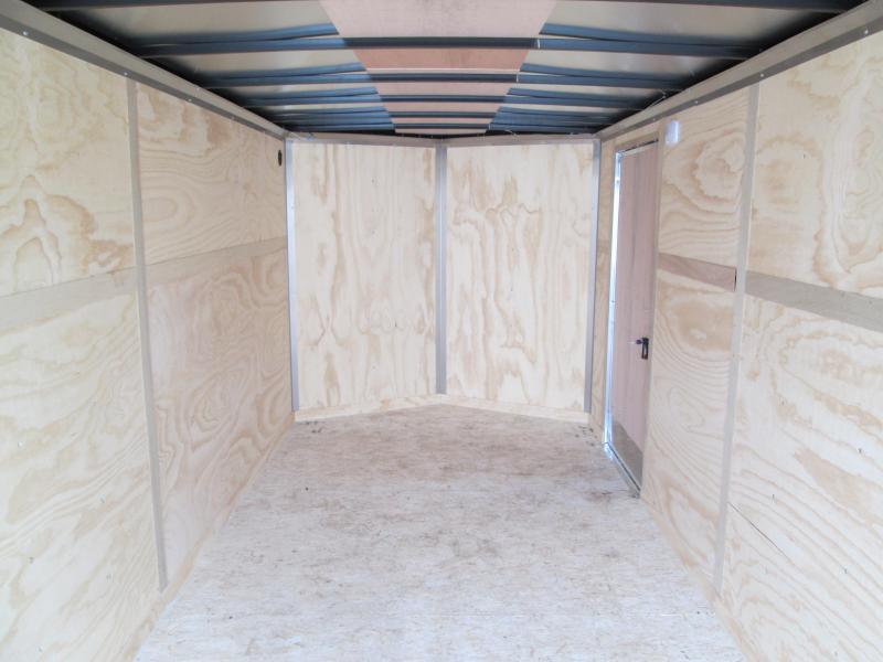 2020 7'x16' 7k RC Flat Top Wedge Trailer with ramp door. 57166