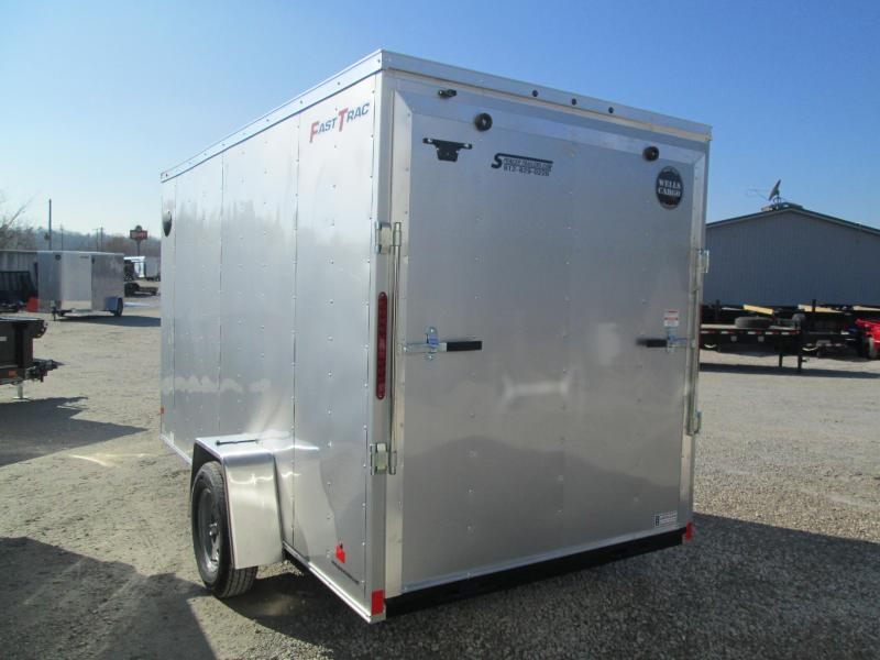 2020 6'x12' Wells Cargo Fast Trac Enclosed with ramp door. 00348