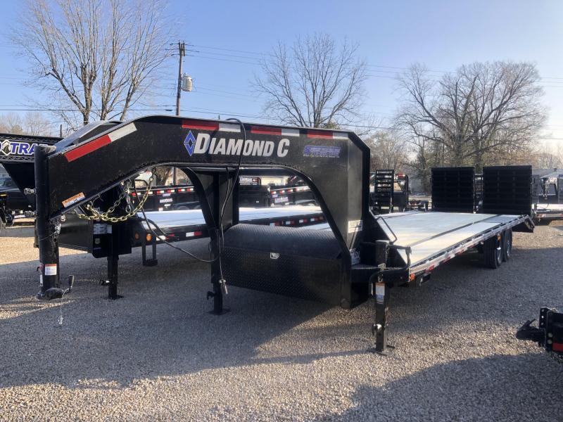 """2020 FMAX 207 MR 23'+5'x102"""" 15.5K Diamond C Engineered Beam Equipment Trailer. 21801"""