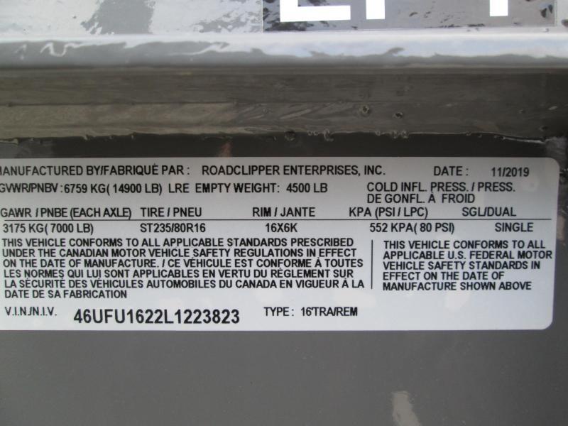 2020 16x83 14.9K LPT Diamond C Gooseneck Dump Trailer. 23823