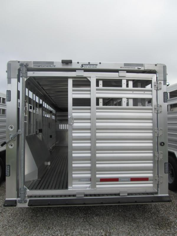 2019 8x24 Featherlite 8127 Stock Livestock Trailer