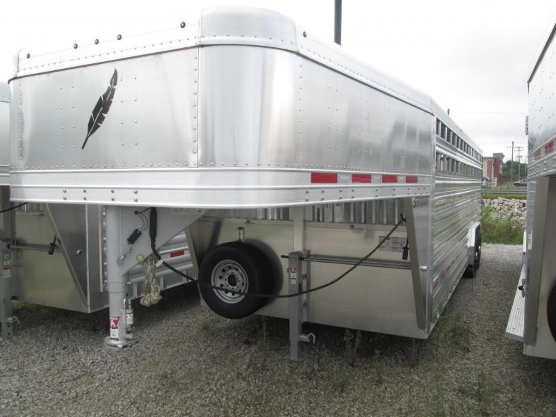 2019 8x24 Featherlite 8127 Stock Livestock Trailer