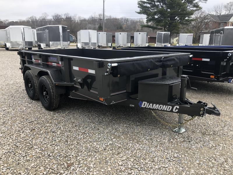 "2020 77""x12' 9890lb. GVWR Diamond C Dump. 22171"
