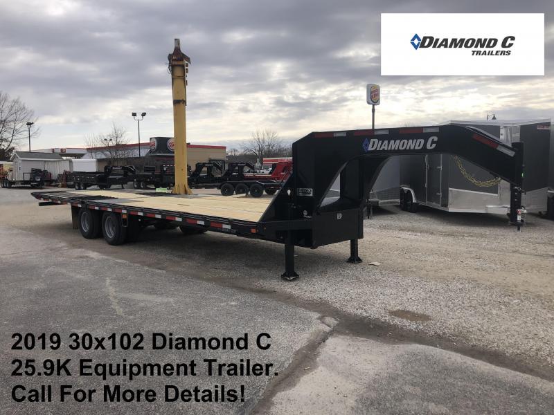 """2019 FMAX 212HDT 30'x102"""" 25.9K Diamond C Engineered Beam Equipment Trailer. 11144"""