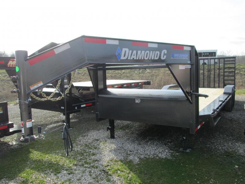 2020 Diamond C 22+2  Gooseneck Equipment Trailer W/ Heavy Duty Split Ramp Gate