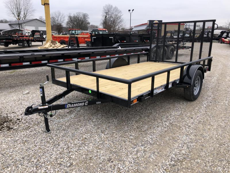 "2020 77""x12' Diamond C GSA Single Axle Utility. 25975"