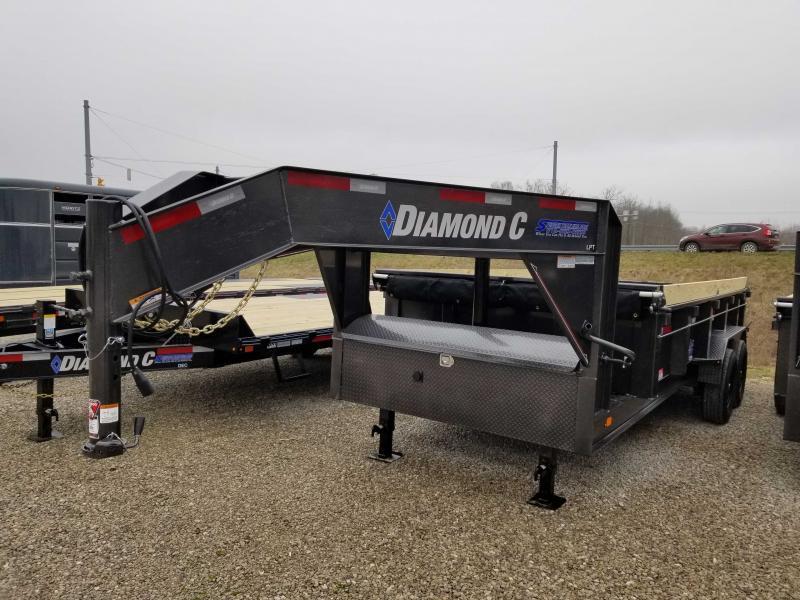 2020 16x83 14.9K LPT Diamond C Gooseneck Dump Trailer. 23904
