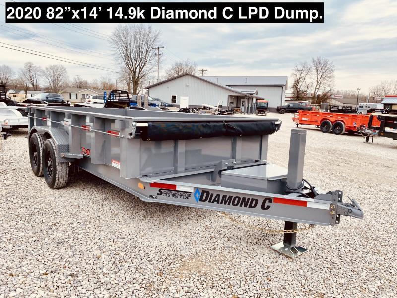 "2020 14'x82"" 14.9k Diamond C Trailers LPD Dump Trailer. 24628"