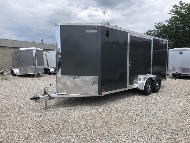 LEGEND ESCAPE DOOR!! 2020 LEGEND FTV 7x18 Plus V-nose Aluminum Trailer