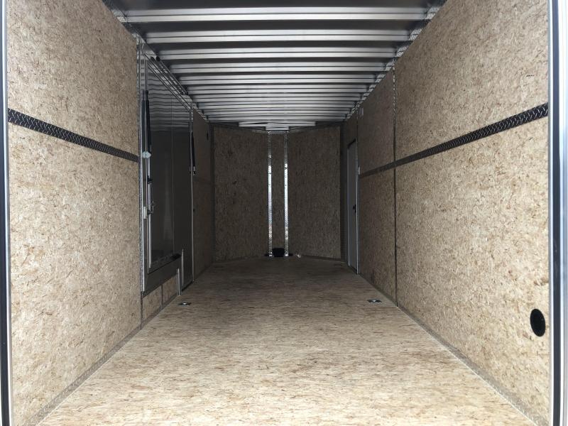 LEGEND ESCAPE DOOR!! 2020 LEGEND FTV 7x18 Plus V-nose Aluminum Trailer