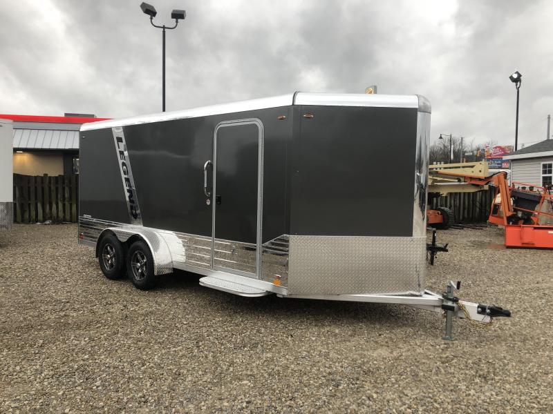 2020 LEGEND DVN 7x16 plus V-nose Aluminum Trailer