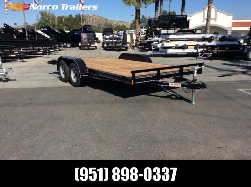 2019 Innovative Trailer Mfg. Economy Wood Car Hauler 83 x 16 Tandem Axle Flatbed Trailer