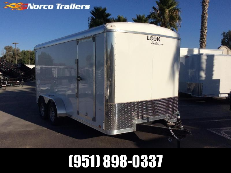 2020 Look Trailers Vision 7' x 16' Tandem Axle Enclosed Cargo Trailer