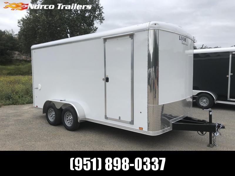 2019 Look Trailers Vision 7' x 16' Round Top Tandem Cargo / Enclosed Trailer