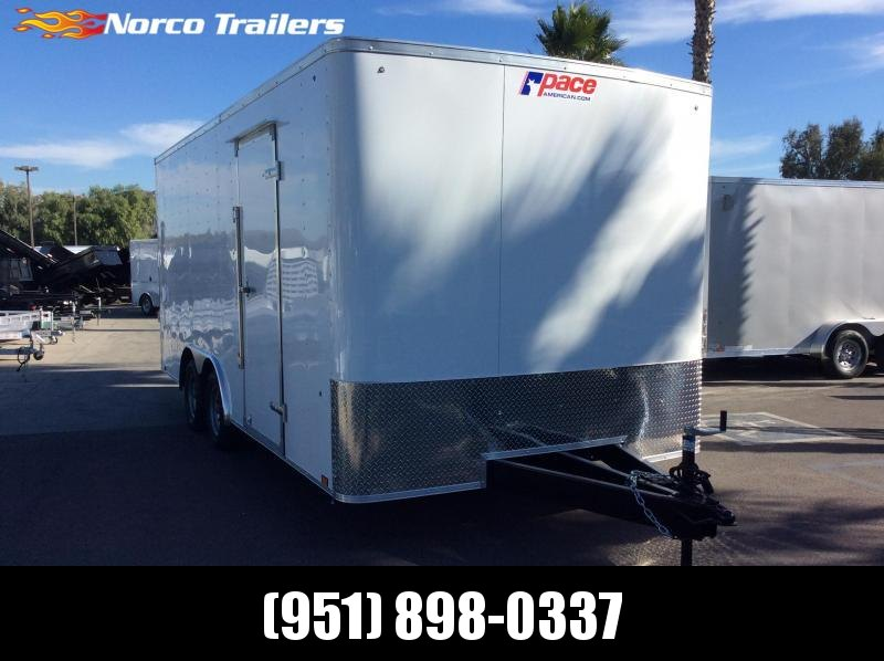 """2020 Pace American Outback 8' 6"""" x 18' Tandem axle Car / Racing Trailer"""
