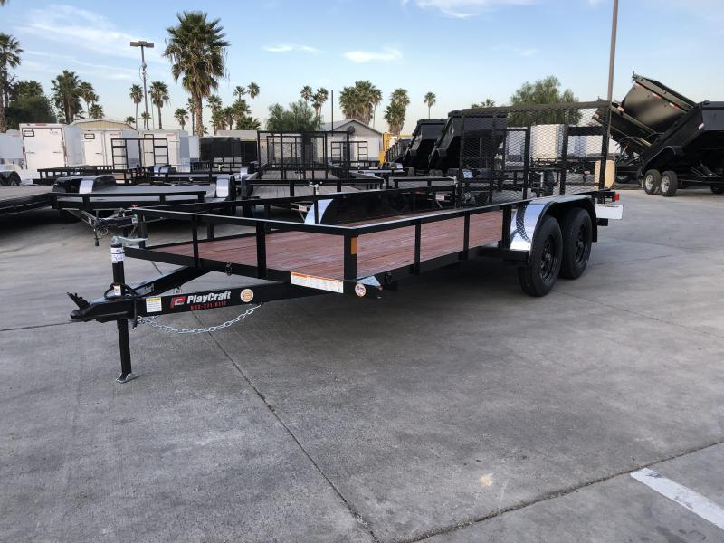 "2020 Sun Country Playcraft 77"" x 16' Tandem Axle Utility Trailer"