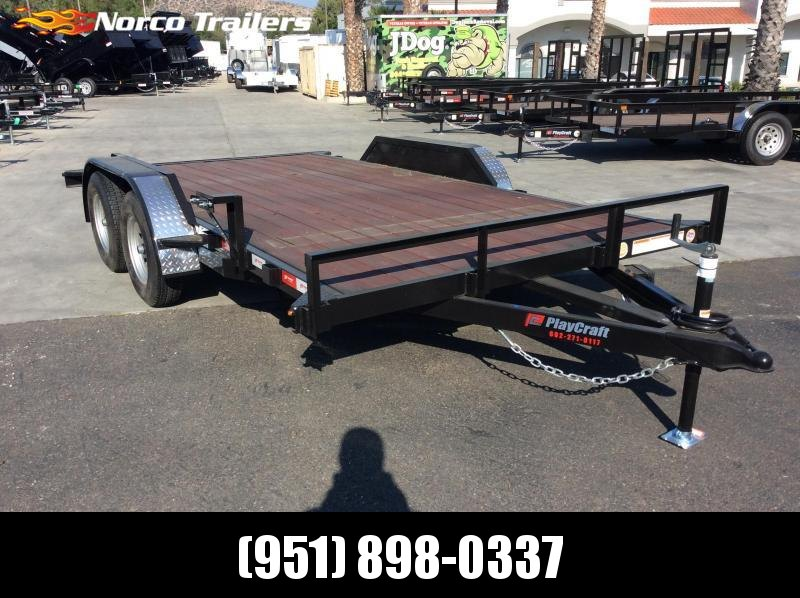 "2019 Playcraft 82"" x 14' Flatbed Car Trailer"
