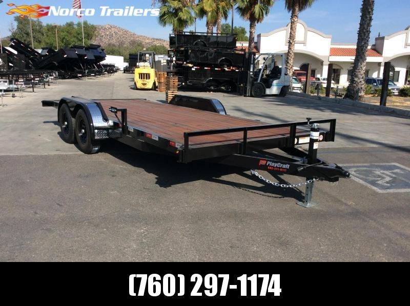 "2020 Playcraft 82"" x 18' Tandem Axle Flatbed Equipment Trailer"