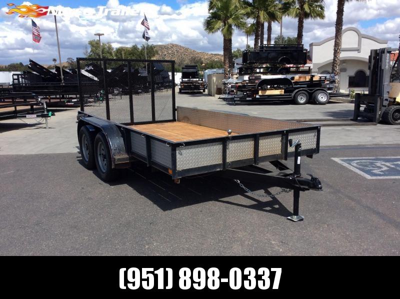 """1995 Big Tex Trailers 77"""" x 12' Tandem Axle Utility Trailer"""