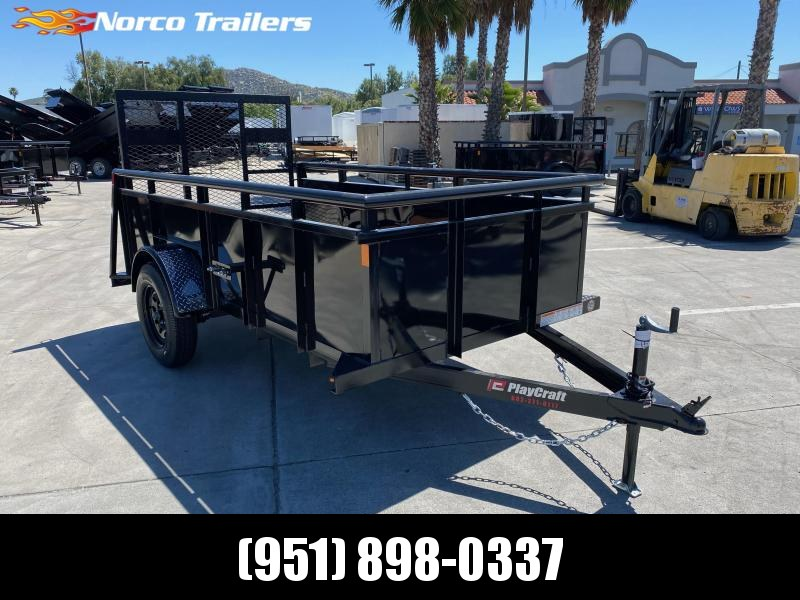 2020 Playcraft 5' x 10' Landscape Single Axle Utility Trailer