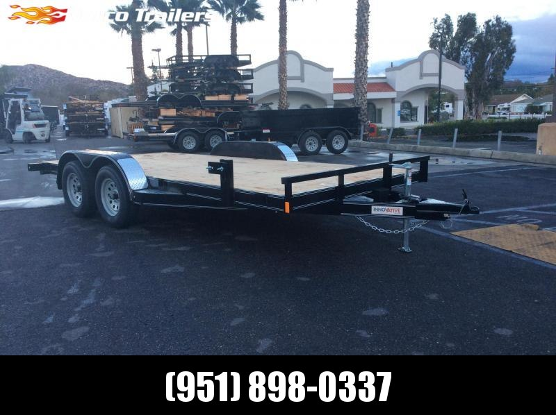 "2019 Innovative Trailer Mfg. Wood Floor Car Hauler 83"" x 16' Tandem Axle Flatbed Trailer"