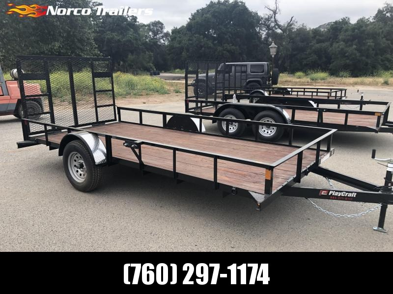 "2019 Playcraft 77"" x 14' Single Axle Utility Trailer"