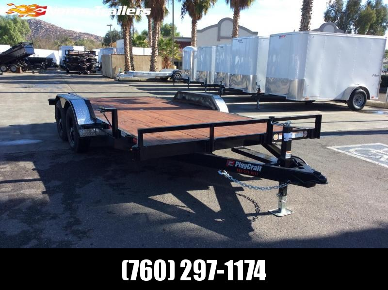 "2020 Playcraft 82"" x 16' Tandem Axle Flatbed Equipment Trailer"