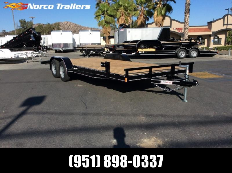 "2018 Innovative Trailer Mfg. 83"" x 20' Economy Wood Car Hauler Flatbed Trailer"