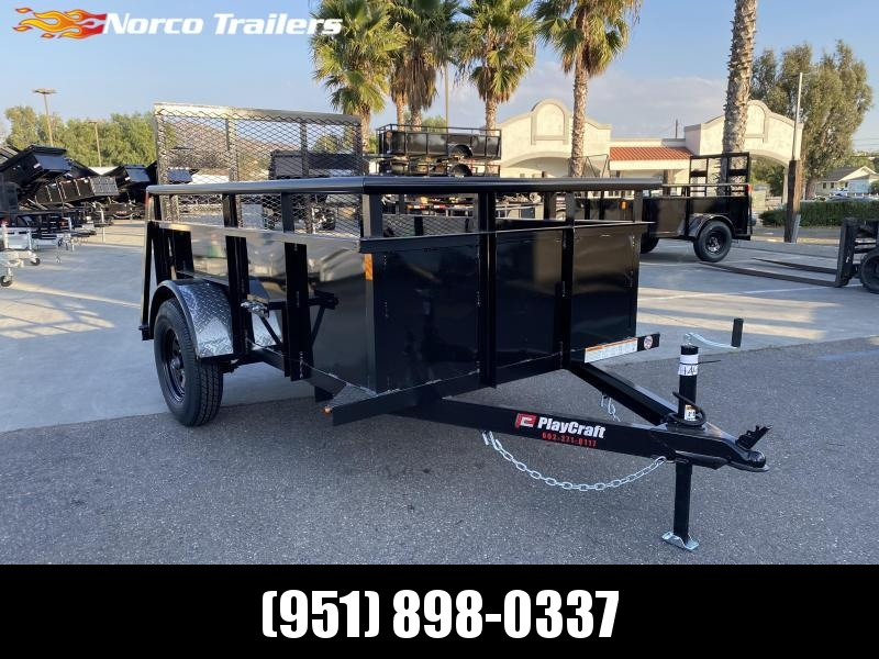 2020 Playcraft 5' x 8' Single Axle Landscape Utility Trailer