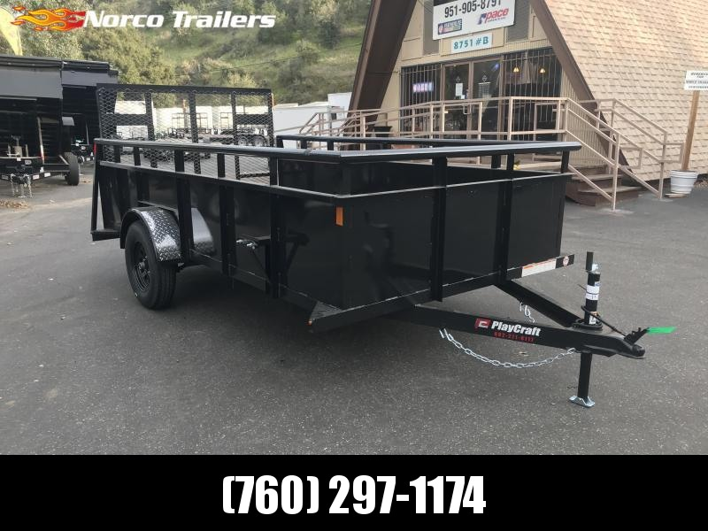 "2020 Playcraft 77"" x 12' Single Axle Landscape Utility Trailer"