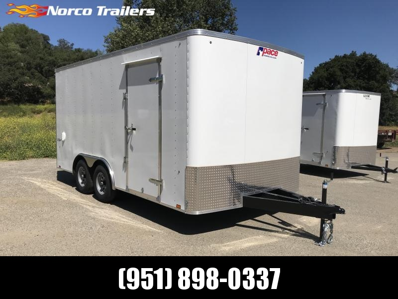 2019 Pace American Outback 8.5' x 16' 10K Car / Racing Trailer