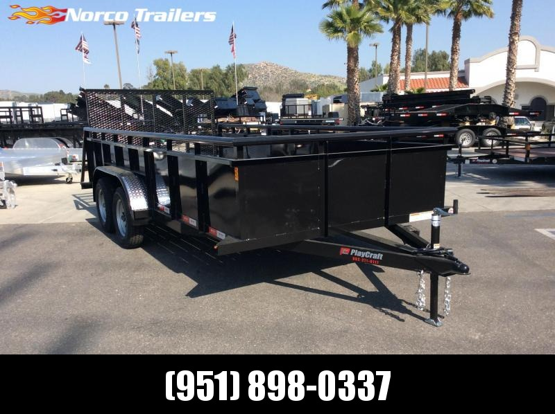 "2019 Sun Country 83"" X 16' TANDEM AXLE LANDSCAPE Utility Trailer"