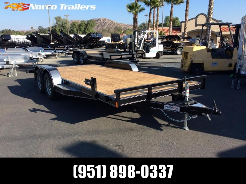 "2019 Innovative Trailer Mfg. 83"" x 18' Wood Floor Flatbed Trailer"