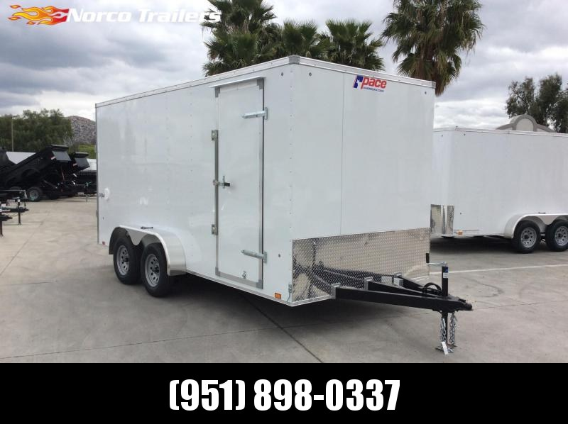 2021 Pace American Outback 7' x 16' Tandem Axle Enclosed Cargo Trailer