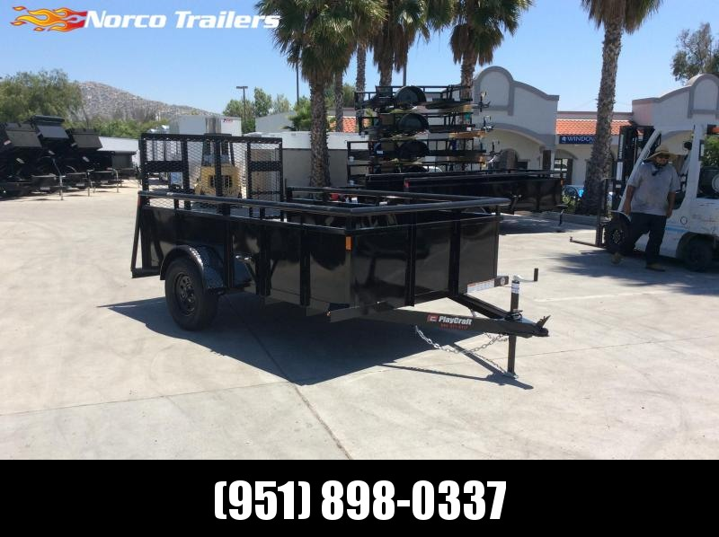 2020 Playcraft 6' x 10'  Single axle Landscape utility Trailer