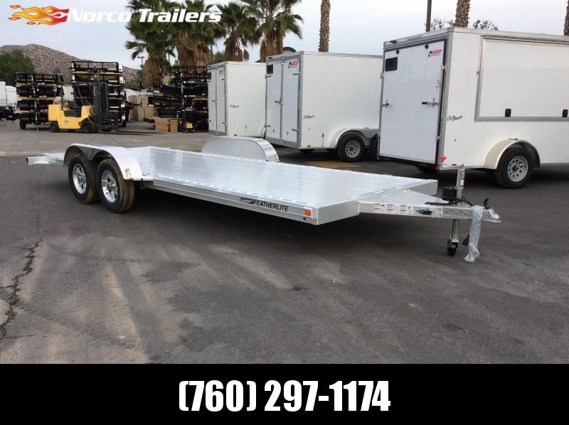 2018 Featherlite 8.5' x 16' 3182 Flatbed Car / Racing Trailer