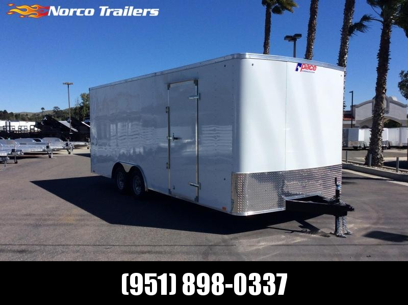 2019 Pace American OB 8.5 X 20 Tandem axle Car / Racing Trailer