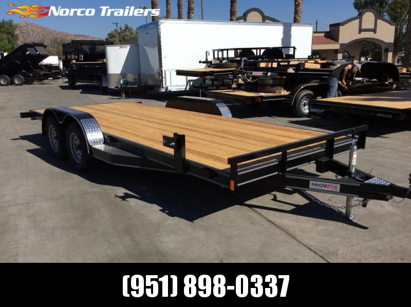 "2019 Innovative Trailer Mfg. Wood Floor Car Hauler 83"" x 18' Flatbed Auto Trailer"