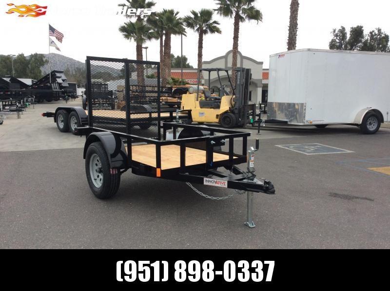 2019 Innovative Trailer Mfg. Economy Wood Single axle 4' x 6' Utility Trailer