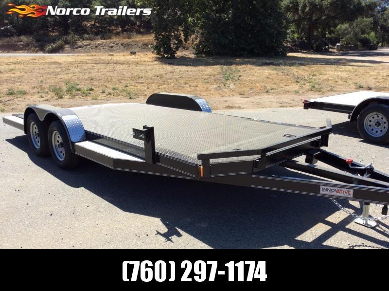"2018 Innovative Trailer Mfg. Steel Deck Car Hauler 83"" x 18' Flatbed Trailer"
