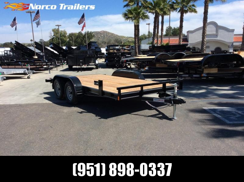 "2019 Innovative Trailer Mfg. Economy Wood Car Hauler 83"" x 14' Flatbed Trailer"