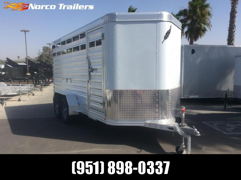 2020 Featherlite 8107 6.7 x 16 Tandem Axle Livestock Trailer