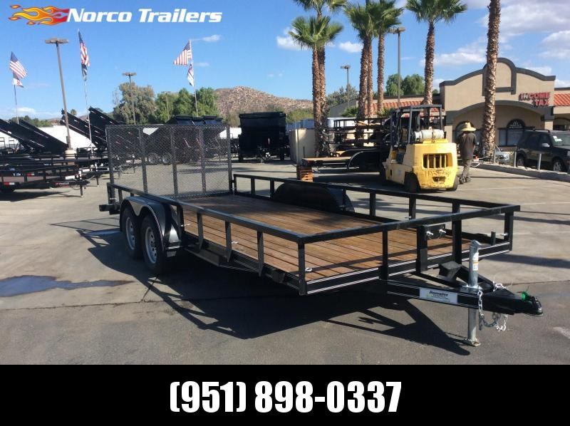 "2017 Innovative Trailer Mfg.  83"" x 18' Tandem Axle Utility Trailer"