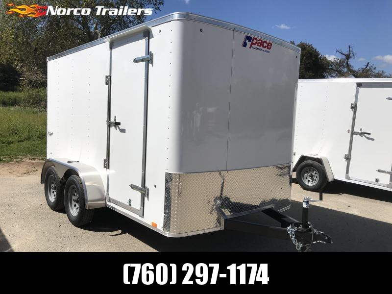 2019 Pace American Outback 7' x 12' Enclosed Cargo Trailer