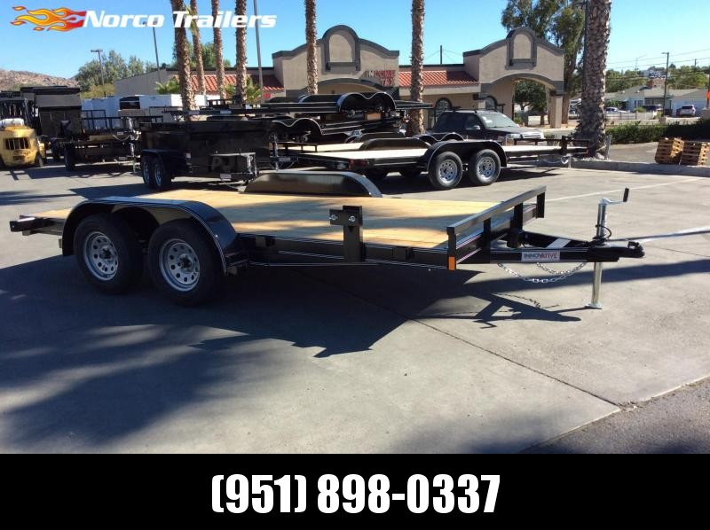 2019 Innovative Trailer Mfg. Economy Wood Car Hauler 83 x 14' Flatbed Trailer