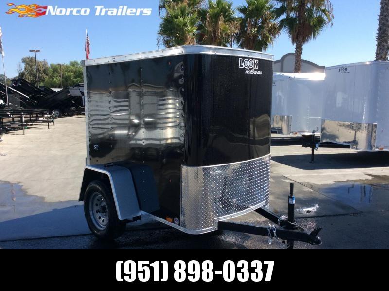 2020 Look Trailers STLC 4 X 6 Single axle Enclosed Cargo Trailer