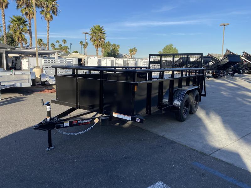 "2020 Playcraft 82"" x 14' Tandem Axle Landscape Utility Trailer"