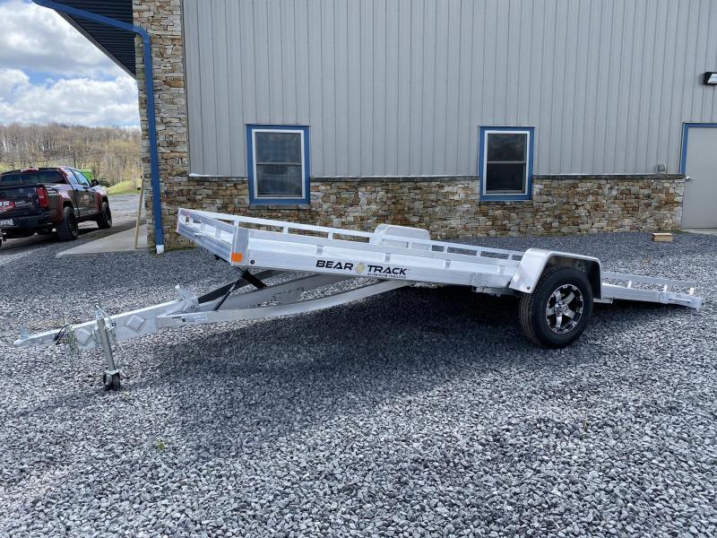 """2020 Bear Track 14.6' x 81"""" Tilt Aluminum Single Axle Utility Trailer"""